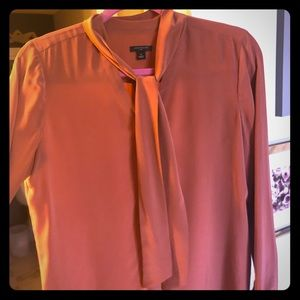 Ann Taylor silk blouse with tie neck